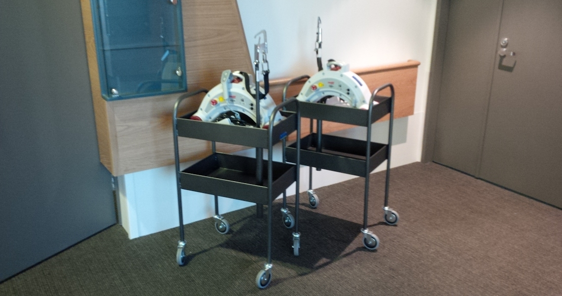 CHS Healthcare supplies Australian Unity with Fineline concealed rail in rooms with Etac Molift Nomad portable hoists