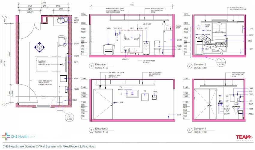 chs-healthcare-bim-revit-team2-xy-system-fixed-hoist-room-coverage-hospital-rooms