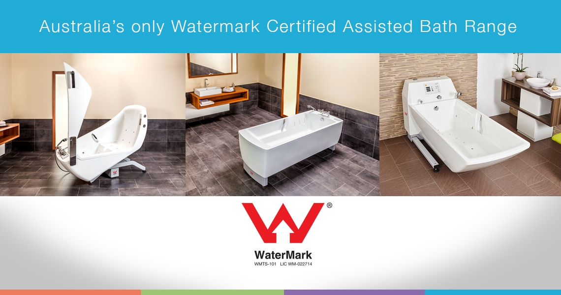 Accessible baths range now Watermark certified